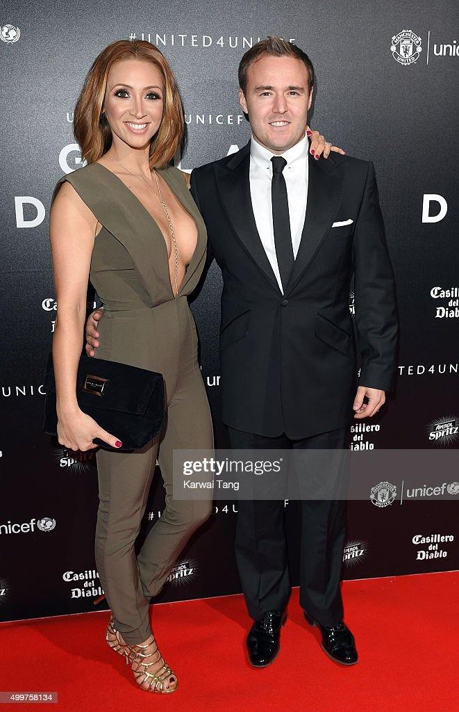 Lucy-Jo Hudson and Alan Halsall attend the United for UNICEF Gala Dinner at Old Trafford on November 29, 2015 in Manchester, England.