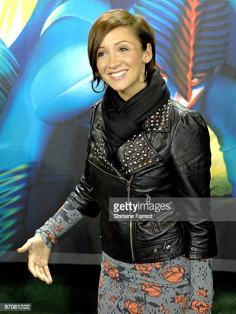 LucyJo Hudson attends a green carpet photocall for Cirque du Soleil's 'Varekai' at The White Grand Chapiteau at The Trafford Centre on February 25...