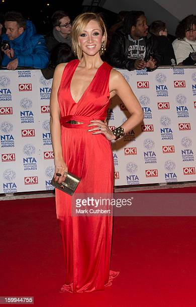 LucyJo Hudson attends the National Television Awards at 02 Arena on January 23 2013 in London England