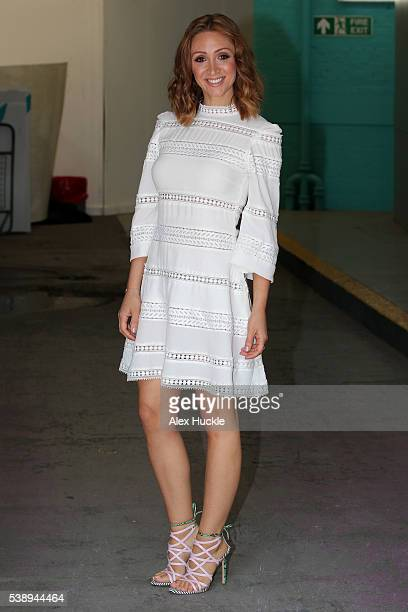 LucyJo Hudson seen leaving the ITV Studios after an appearance on 'This Morning' on June 9 2016 in London England
