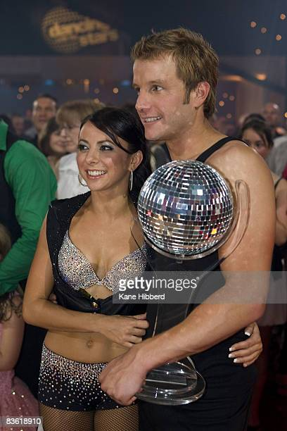Luda Kroitor and Luke Jacobz arrive for the grand final event for Dancing With The Stars 2008 at the Channel Seven studios on November 8 2008 in...