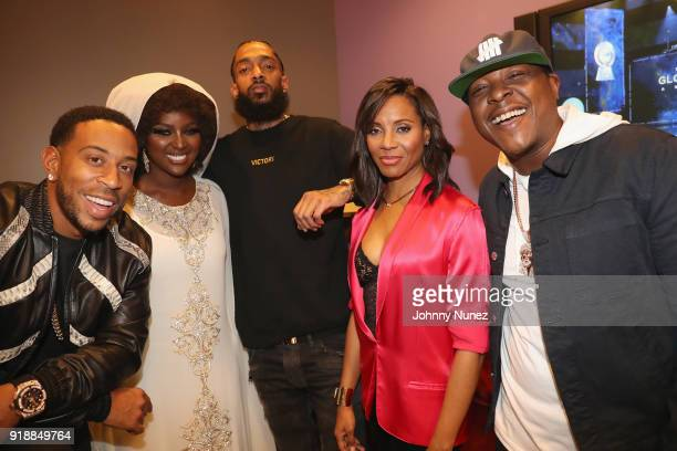 Ludacris Amara La Negra Nipsey Hussle MC Lyte and Jadakiss attend the 2018 Global Spin Awards at The Novo by Microsoft on February 15 2018 in Los...