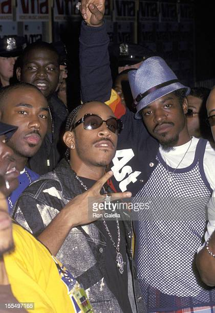 Ludacris and Big Boi of OutKast during 2002 MTV Video Music Awards Backstage and Audience at Radio City Music Hall in New York City New York United...