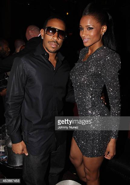 Ludacris and Ciara attend Ciara's Fantasy Ride album release party at M2 Ultra Lounge on May 7 2009 in New York City