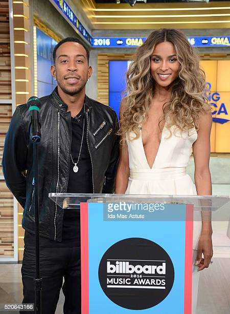 AMERICA Ludacris and Ciara who will be the hosts of this year's Billboard Music Awards announce the nominees on GOOD MORNING AMERICA 4/11/16 airing...