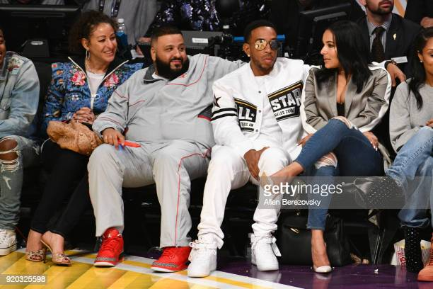 Ludacris and DJ Khaled attend The 67th NBA AllStar Game Team LeBron Vs Team Stephen at Staples Center on February 18 2018 in Los Angeles California
