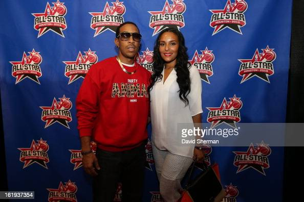 Star Motors Houston >> Ludacris and Eudoxie Agnan pose on the All-Star Red Carpet ...