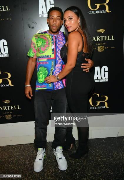 Ludacris and Eudoxie Bridges attend John Wall Birthday Celebration at Gold Room on September 3 2018 in Atlanta Georgia