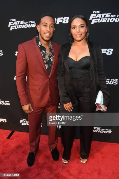 Ludacris and Eudoxie Bridges attend The Fate Of The Furious Atlanta red carpet screening at SCADshow on April 4 2017 in Atlanta Georgia