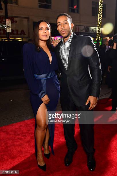 Ludacris and Eudoxie Mbouguiengue attend the premiere of Warner Bros Pictures' Justice League at Dolby Theatre on November 13 2017 in Hollywood...