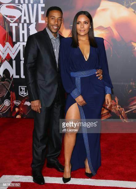 Ludacris and Eudoxie Mbouguiengue attend the premiere of Warner Bros Pictures' 'Justice League' on November 13 2017 in Los Angeles California
