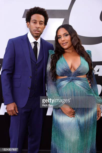 """Ludacris and Eudoxie Mbouguiengue attend the Universal Pictures """"F9"""" World Premiere at TCL Chinese Theatre on June 18, 2021 in Hollywood, California."""