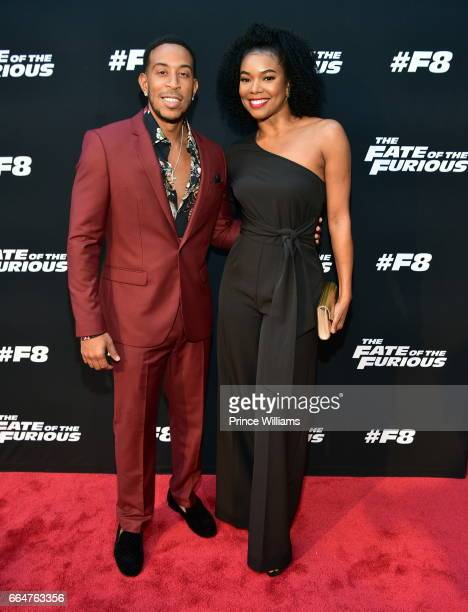 Ludacris and Gabrielle Union attend The Fate Of The Furious Atlanta Screening at SCAD Show on April 4 2017 in Atlanta Georgia