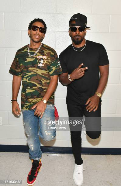 Ludacris and Jamie Foxx attend 14th Annual LudaDay Weekend Celebrity Basketball Game at Morehouse College on September 01 2019 in Atlanta Georgia