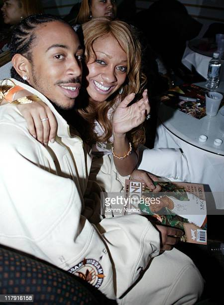 Ludacris and La La Vasquez of MTV during Carmelo Anthony and Lil Jon's NBA AllStar Weekend Party February 17 2005 at Palladium in Denver Colorado...