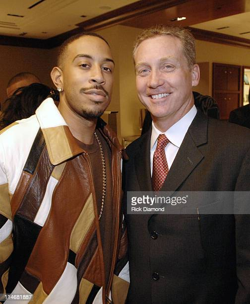 Ludacris and Tom Carroll VP Tiffany Co during Georgia GRAMMY Nominees Honored by the Recording Academy and Tiffany Co in Atlanta Georgia United States