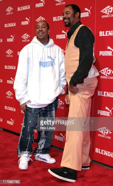 "Ludacris and Walt ""Clyde"" Frazier during PUMA and Blender Magazine Present Ludacris and Walt ""Clyde"" Frazier to Launch ""PUMA Suede"" - February 18,..."