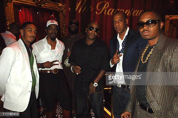 Ludacris Andre 3000 Jay Z Nas during 2006 MTV Video Music Awards Backstage at Radio City Music Hall in New York New York United States