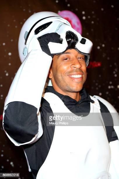 Ludacris arrives at Chris Brown album release Pop up for 'Heartbreak On A Full Moon' at Universal Studios Hollywood on October 31 2017 in Universal...