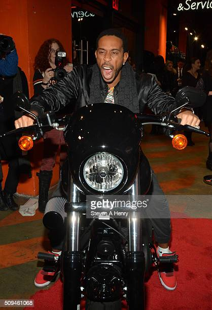 Ludacris attends the Harley Davidson Black Label Collection Celebration at HarleyDavidson of New York City on February 10 2016 in New York City