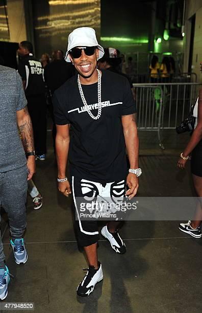 Ludacris backstage at the Hot 1079 Birthday Bash Block Show at Philips Arena on June 20 2015 in Atlanta Georgia