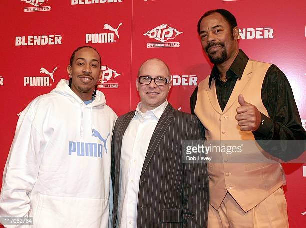 "Ludacris, Barney Waters, PUMA VP of marketing, and Walt ""Clyde"" Frazier"