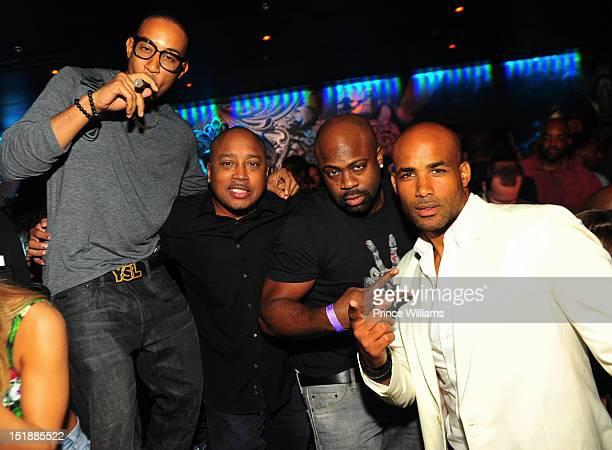 Ludacris Daymond John Breyon Prescott and Boris Kodjoe attend a party at Reign Nightclub on August 31 2012 in Atlanta United States