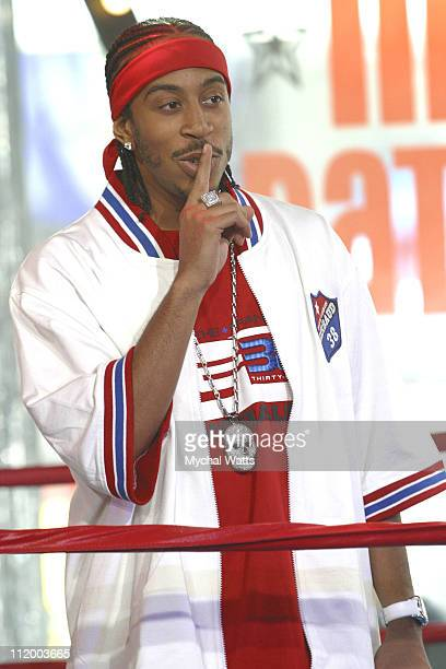 Ludacris during MTV MC Battle at MTV Times Square Studios in New York City New York United States