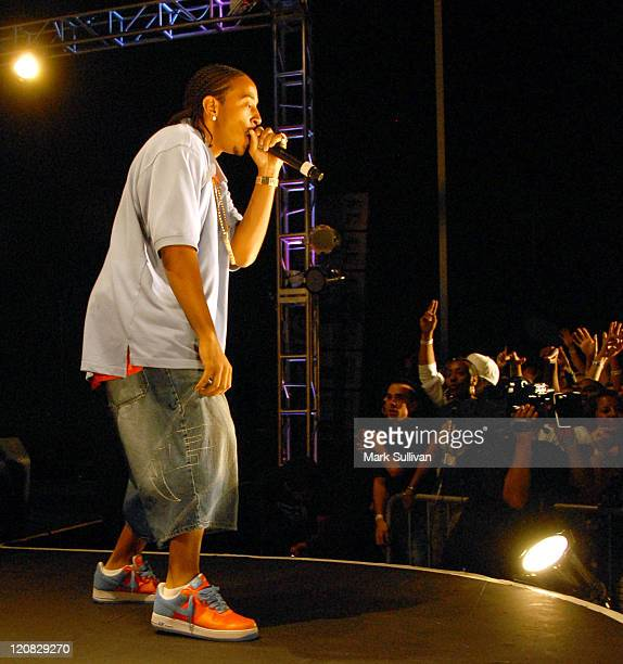 Ludacris during MySpace's The List Presents Pharrell Friends brought to you by Helio July 17 2006 at Arclight Parking Roof Top in Hollywood...