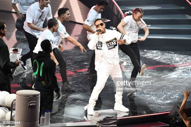 Ludacris performs at The 67th NBA AllStar Game Team LeBron Vs Team Stephen at Staples Center on February 18 2018 in Los Angeles California