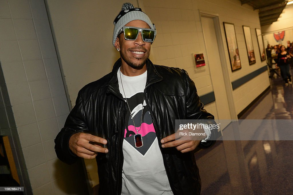 Ludacris poses backstage at Power 96.1's Jingle Ball 2012 at the Philips Arena on December 12, 2012 in Atlanta.