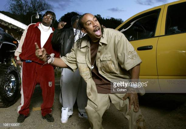 Ludacris shooting the video for '2 Fast 2 Furious' April 22 2003