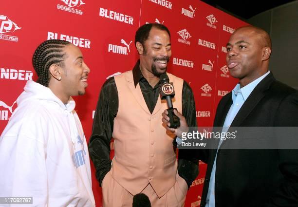 Ludacris Walt 'Clyde' Frazier and ET's Kevin Frazier