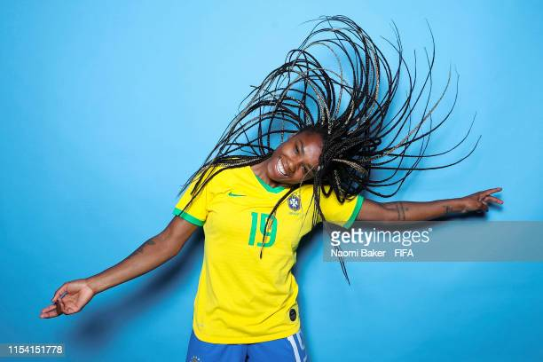 Ludamil of Brazil poses for a portrait during the official FIFA Women's World Cup 2019 portrait session at Grand Hotel Uriage on June 06, 2019 in...