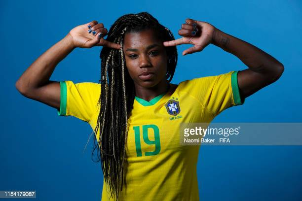 Ludamil of Brazil poses for a portrait during the official FIFA Women's World Cup 2019 portrait session at Grand Hotel Uriage on June 06 2019 in...
