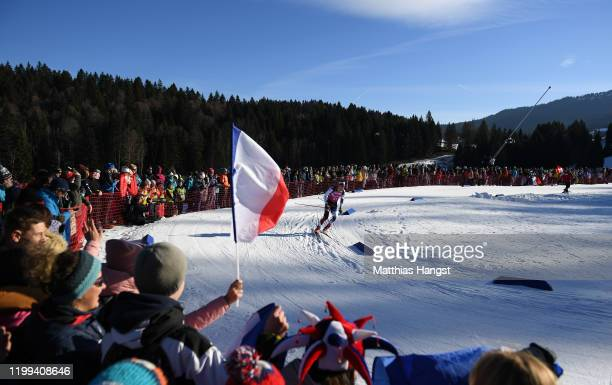 Ludek Abraham of Czech competes in Men's 75km Sprint in Biathlon during day 5 of the Lausanne 2020 Winter Youth Olympics at Stade Nordique des Tuffes...