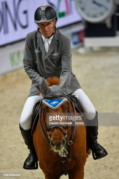 Ludger Beerbaum of Germany riding Casello during the Longines FEI Jumping World Cup Verona 2018 CSI5*W on October 28 2018 in Verona Italy