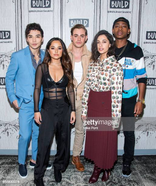 Ludi Lin Becky G Dacre Montgomery Naomi Scott and RJ Cyler attend Build Series to discuss 'Power Rangers' at Build Studio on March 20 2017 in New...