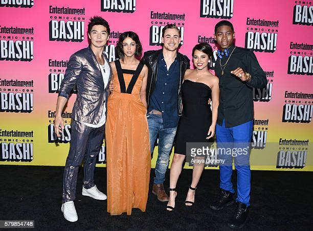 Ludi Lin Naomi Scott Dacre Montgomery Becky G and RJ Cyler attend Entertainment Weekly's ComicCon Bash held at Float at Hard Rock Hotel San Diego on...