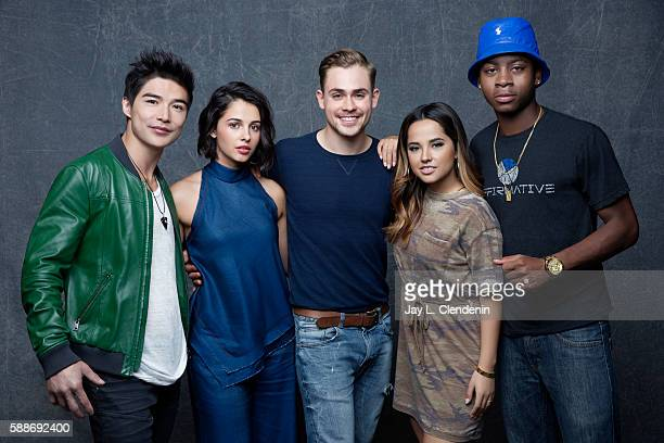 Ludi Lin Naomi Scott Dacre Montgomery Becky G and RJ Cyler of 'Power Rangers' are photographed for Los Angeles Times at San Diego Comic Con on July...