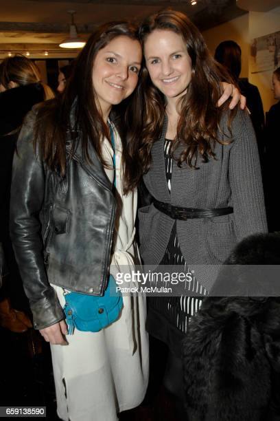 Ludivine and Fiona Thomas attend JEROME DREYFUSS Fall/Winter 2009 Collection at LUDIVINE Uptown at Boutique Ludivine on February 19 2009 in New York...