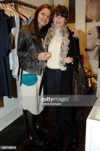 Ludivine and Kate Bryan attend JEROME DREYFUSS Fall/Winter 2009 Collection at LUDIVINE Uptown at Boutique Ludivine on February 19 2009 in New York...