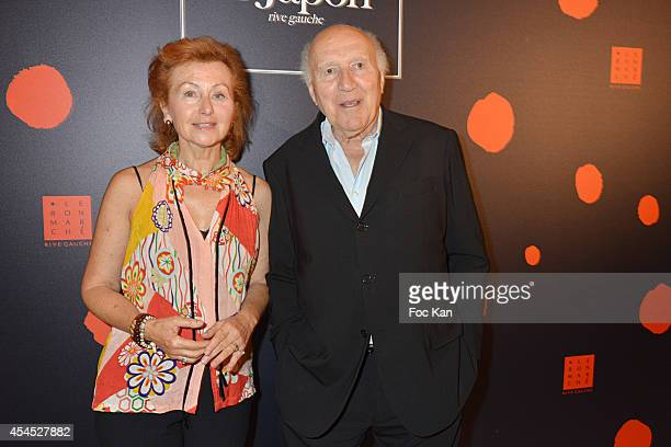 Ludivine Clerc and Michel Piccoli attend the 'Japan Rive Gauche' Exhibition Preview at Le Bon Marche on September 2 2014 in Paris France