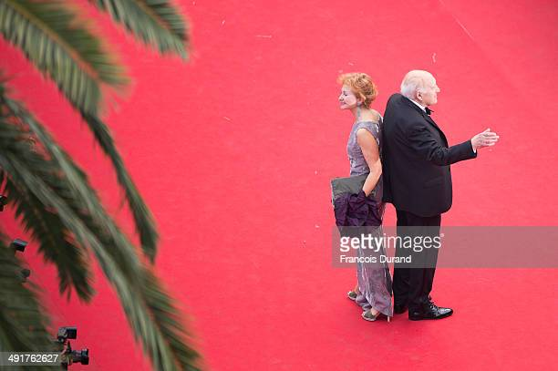 Ludivine Clerc and Michel Piccoli attend the Premiere of Saint Laurent at the 67th Annual Cannes Film Festival on May 17 2014 in Cannes France