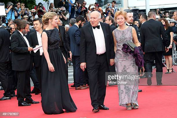 Ludivine Clerc and Michel Piccoli attend the Premiere of 'Saint Laurent' at the 67th Annual Cannes Film Festival on May 17 2014 in Cannes France