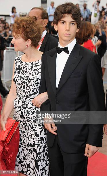 Ludivine Clerc and Pietro Moretti attend the Habemus Papam Premiere during the 64th Annual Cannes Film Festival at the Palais des Festivals on May 13...