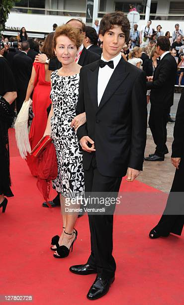 Ludivine Clerc and Pietro Moretti attends the Habemus Papam Premiere during the 64th Annual Cannes Film Festival at the Palais des Festivals on May...