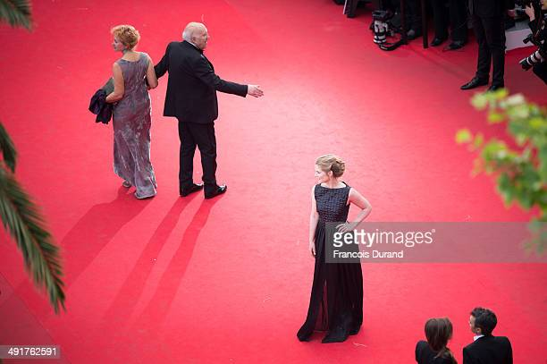Ludivine Clerc Michel Piccoli and Natacha Regnier attend the Premiere of Saint Laurent at the 67th Annual Cannes Film Festival on May 17 2014 in...