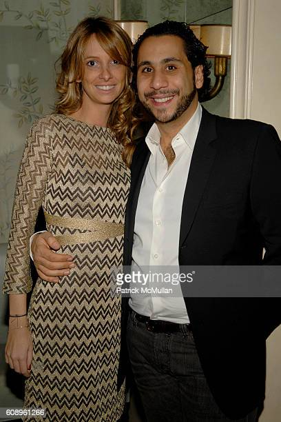 Ludivine Hennessy and Gilbert Chagoury attend AMANDA ROSS and KILIAN HENNESSY unveil L'OEUVRE NOIRE BY KILIAN at Bergdorf Goodman on November 29 2007...