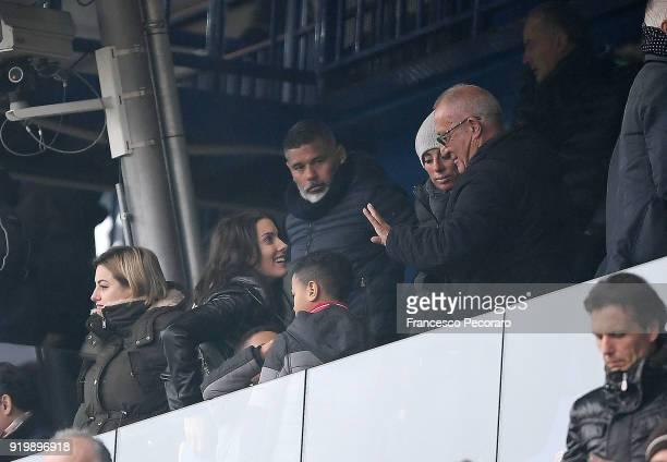 Ludivine Kadri Sagna wife of Bacary Sagna during the serie A match between Benevento Calcio and FC Crotone at Stadio Ciro Vigorito on February 18...